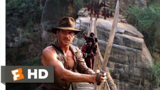 Indiana Jones and the Temple of Doom (9/10) Movie CLIP – The Rope Bridge (1984) HD